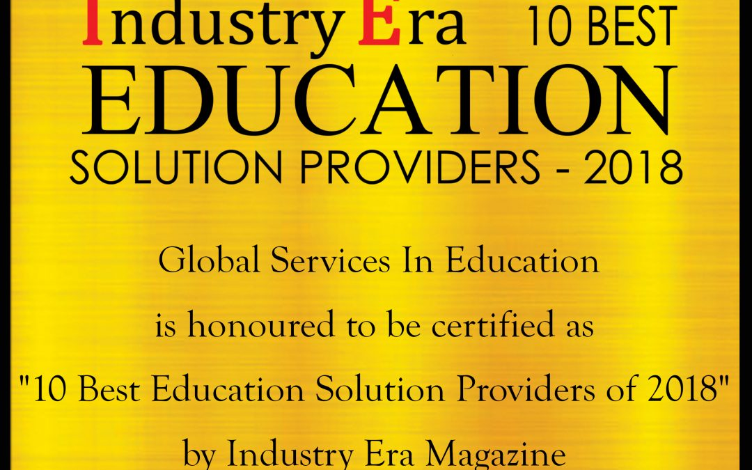 Global Services in Education named Top 10 Education Solution Provider