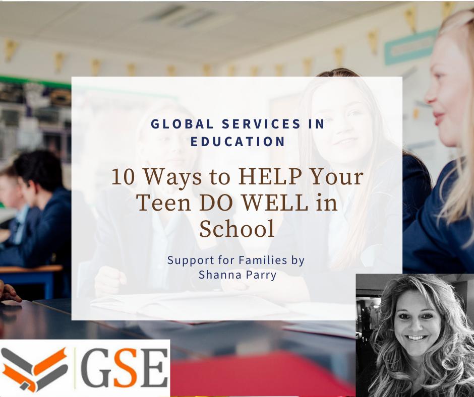 Help teenagers do well in school